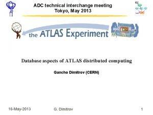 ADC technical interchange meeting Tokyo May 2013 Database