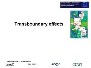 Transboundary effects Consultant CMDC Joint Venture Transboundary effects