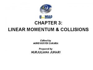 CHAPTER 3 LINEAR MOMENTUM COLLISIONS Edited by MOHD