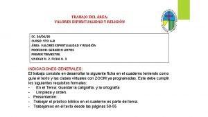 TRABAJO DEL REA VALORES ESPIRITUALIDAD Y RELIGIN SC