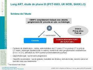 Lung ART tude de phase III IFCT0503 UK