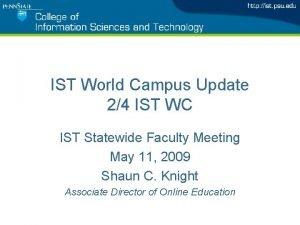 IST World Campus Update 24 IST WC IST