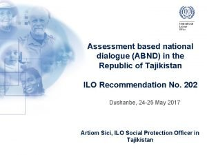 Assessment based national dialogue ABND in the Republic
