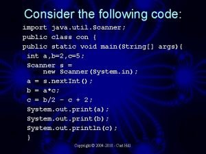 Consider the following code import java util Scanner