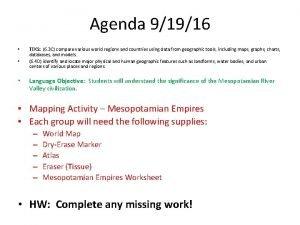 Agenda 91916 TEKS 6 3 C compare various