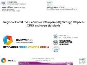 Jordan PIANC University of Trieste Information Services for