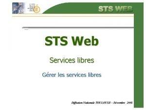 STS Web Services libres Grer les services libres