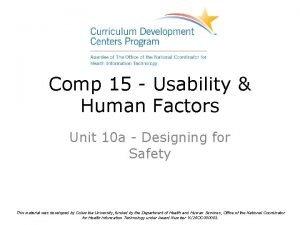 Comp 15 Usability Human Factors Unit 10 a