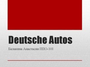 In Deutschland werden von Autos viel gesprochen denn