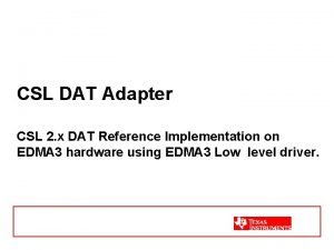 CSL DAT Adapter CSL 2 x DAT Reference
