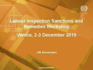 Labour Inspection Sanctions and Remedies Workshop Venice 2