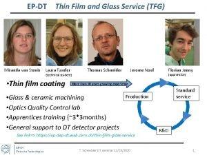 EPDT Miranda van Stenis Thin Film and Glass