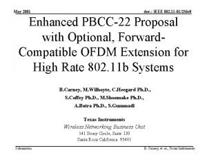 May 2001 doc IEEE 802 11 01256 r