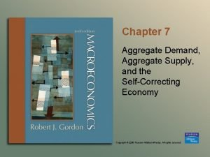 Chapter 7 Aggregate Demand Aggregate Supply and the