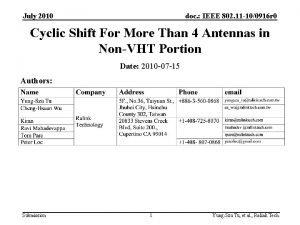 July 2010 doc IEEE 802 11 100916 r