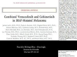 Reunin Bibliogrfica Oncologa Sanatorio Allende Martes 07 10