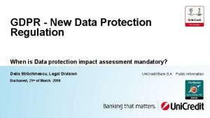 GDPR New Data Protection Regulation When is Data