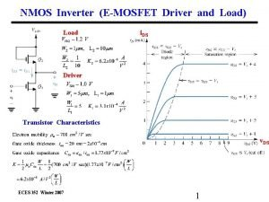NMOS Inverter EMOSFET Driver and Load Load i