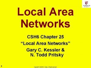 Local Area Networks CSH 6 Chapter 25 Local