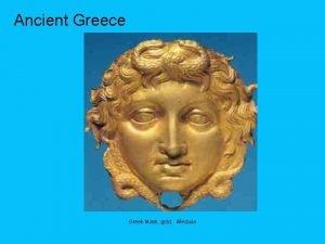 Ancient Greece Greek Mask gold Medusa Ancient Greece