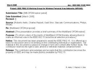 March 2005 doc IEEE 802 15 05168 r