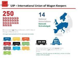 UIP International Union of Wagon Keepers 14 National