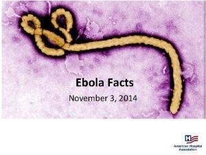 Ebola Facts November 3 2014 Flu versus Ebola
