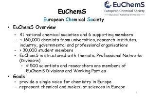 Eu Chem S European Chemical Society Eu Chem