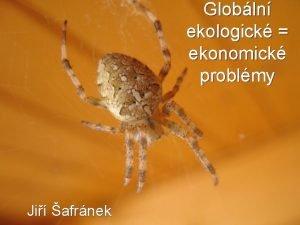 Globln ekologick ekonomick problmy Ji afrnek Myslme na
