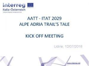 AATT ITAT 2029 ALPE ADRIA TRAILS TALE KICK