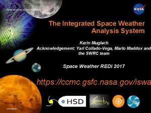 National Aeronautics and Space Administration The Integrated Space