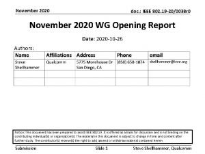 November 2020 doc IEEE 802 19 200038 r