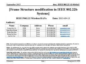 September 2013 doc IEEE 802 22 13 0141