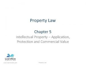 Property Law Chapter 5 Intellectual Property Application Protection