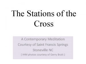 The Stations of the Cross A Contemporary Meditation