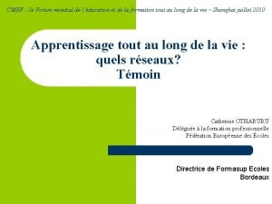 CMEF 2 e Forum mondial de lducation et