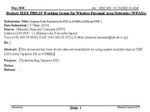 doc IEEE 802 15 10 0302 01 004