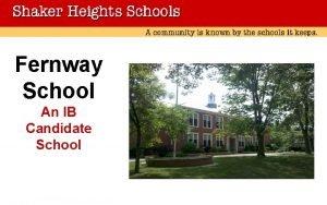 Fernway School An IB Candidate School Fernway School
