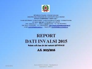 REPUBBLICA ITALIANA REGIONE SICILIANA MINISTERO DELLISTRUZIONE DELLUNIVERSIT E