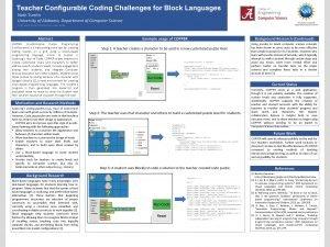 Teacher Configurable Coding Challenges for Block Languages Nath
