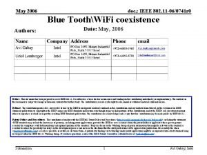 May 2006 doc IEEE 802 11 060741 r
