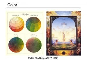 Color Phillip Otto Runge 1777 1810 Overview The