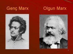 Gen Marx Olgun Marx 1 2 Engels ve