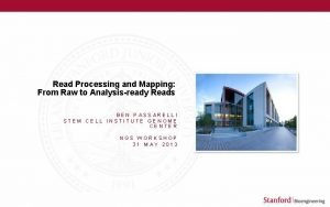 Read Processing and Mapping From Raw to Analysisready