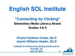 English SOL Institute Connecting by Clicking Elementary Media