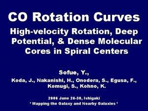 CO Rotation Curves Highvelocity Rotation Deep Potential Dense