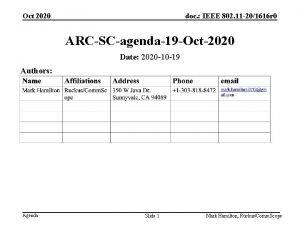 Oct 2020 doc IEEE 802 11 201616 r