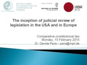Max Planck Institute for Comparative Public Law and