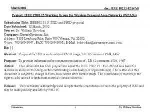 March 2002 doc IEEE 802 15 02147 r