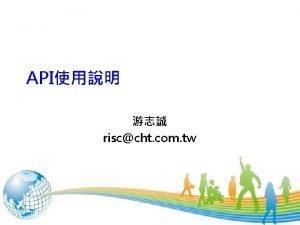 API risccht com tw 1 API API Name